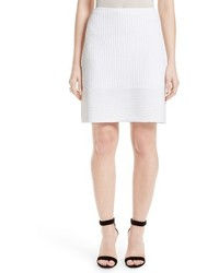 St. John Collection Illusion Grid Knit Skirt