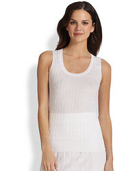 White Knit Sleeveless Top