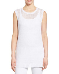 Eileen Fisher Organic Linen Sleeveless Knit Tunic