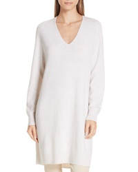 Vince Deep V Neck Sweater Dress