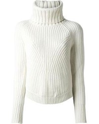 White Knit Turtleneck