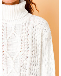 American Apparel Vintage Cable Knit Chunky Turtleneck Sweater ...