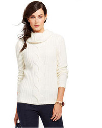 Tommy Hilfiger Cable Knit Cowl Neck Sweater