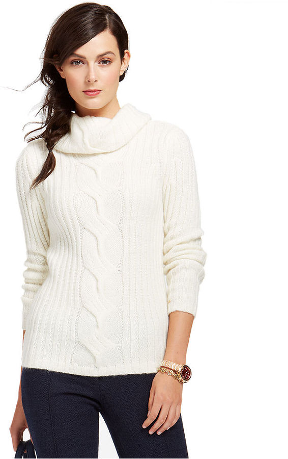 Tommy Hilfiger Cable Knit Cowl Neck Sweater | Where to buy & how ...