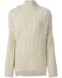 Cable knit turtleneck sweater medium 321409