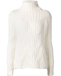 Loro Piana Cable Knit Turtle Neck Sweater