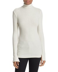 Enza Costa Split Cuff Knit Turtleneck