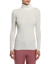 Theory Leendelly Refine Ribbed Knit Turtleneck Sweater