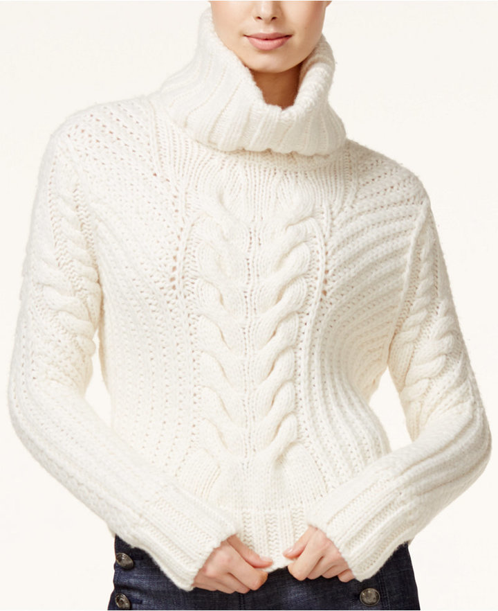Tommy Hilfiger Tommyxgigi Cable Knit Turtleneck Sweater | Where to ...