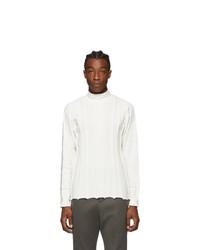 Issey Miyake Men White Fit Knit Sweater