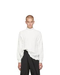 Issey Miyake Men White Fit Knit Turtleneck
