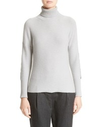 Wool silk cashmere knit turtleneck medium 4950583