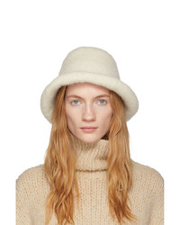 LAUREN MANOOGIAN Off White Felt Brim Hat