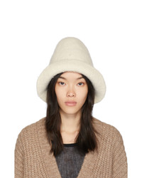 LAUREN MANOOGIAN White Felt Bell Hat