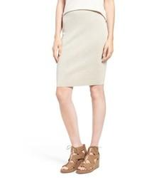 Eileen Fisher Petite Knee Length Wool Crepe Knit Skirt
