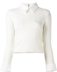 Alice + Olivia Aliceolivia Collar Detail Knit Sweater