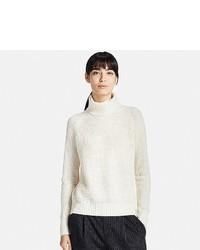 Uniqlo Cashmere Blend Turtleneck Sweater