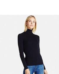 190188ea5573 Uniqlo Extra Fine Merino Ribbed Turtle Neck Sweater