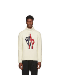 Moncler Genius Off White Logo Maglione Turtleneck