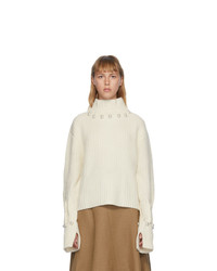 JW Anderson Off White Pearl Turtleneck