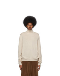 Gucci Off White Wool Cashmere Turtleneck