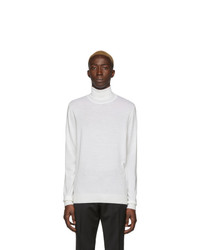 BOSS White Gideo Turtleneck