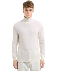 Z Zegna Wool Cashmere Knit Turtleneck Sweater