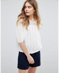 Traffic People 34 Sleeve Top With Lace Yoke