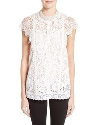 Burberry Cedar Mixed Lace Top