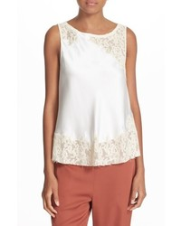 Elizabeth and James Fiora Lace Applique Silk Top