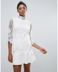 Vila Lace High Neck Blouse
