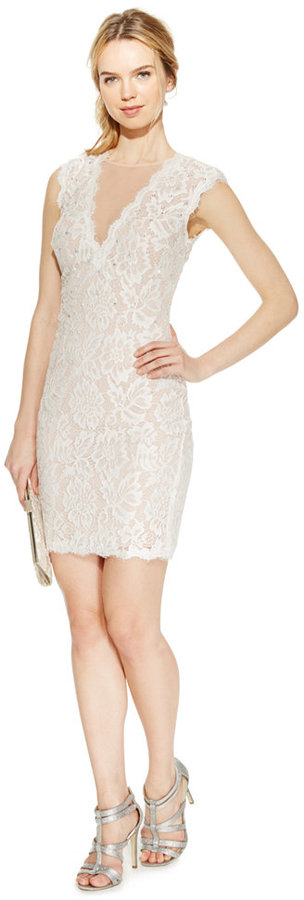 Betsy & Adam Embellished Lace Sheath Dress | Where to buy & how to wear