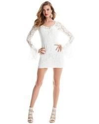 Vestido blanco de guess