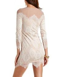 c25fb86d26 ... Charlotte Russe Mesh Lace Long Sleeve Bodycon Dress