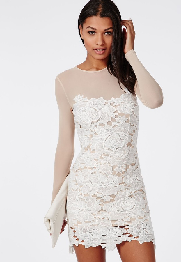 3e99a380048 ... White Lace Bodycon Dresses Missguided Floral Lace Mini Dress Nude ...