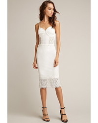 Forever 21 Tiger Mist One Love Lace Midi Dress