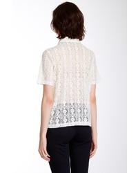 2e818de3 Dantelle Sheer Lace Front Button Shirt, $56 | Nordstrom Rack ...