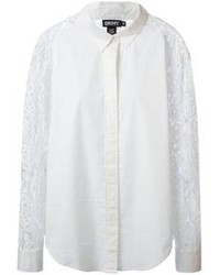 DKNY Lace Panelled Shirt