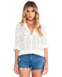 Spell The Gypsy Collective White Dove Lace Blouse