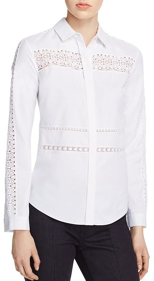 f0c62e74c54f2d Elie Tahari Viviana Crochet Trim Blouse, $248 | Bloomingdale's ...