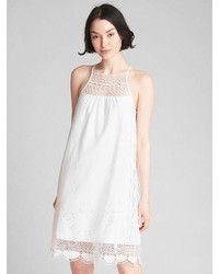 Gap Crochet Cami Dress In Linen Cotton