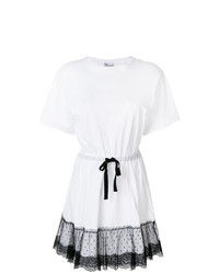 RED Valentino Lace Peplum Hem T Shirt Dress