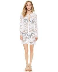 White lace keyhole tunic medium 209060