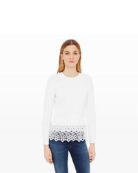 Club Monaco Genara Lace Hem Sweater