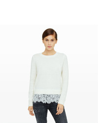 Club Monaco Jessarey Lace Hem Sweater