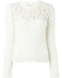 RED Valentino Lace Detail Jumper