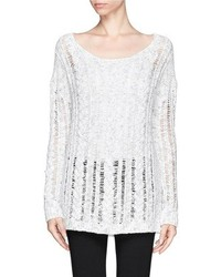 Nobrand Rustic Linen Cable Lace Sweater
