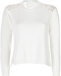 Valentino Cotton Pullover With Lace Back