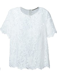 Ermanno Scervino Floral Lace Overlay T Shirt