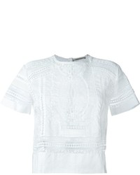 Ermanno Scervino Semi Sheer Laced T Shirt